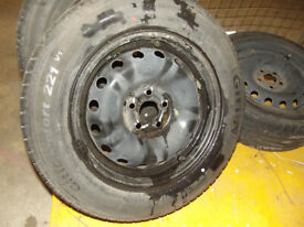 ROVER 75 ZT 15 INCH STEEL WHEELS WITH NEW TYRES