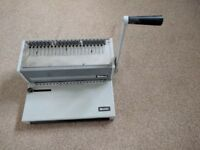Ibico Ibimatic Heavy Duty Manual Comb Binding machine with Catch Tray