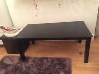 Harveys Black glass coffee table