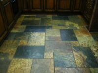 African slate floor tiles, 20 square yards.