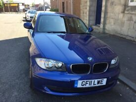 2011 11 plate BMW 116D model in Le Mans Blue rare colour