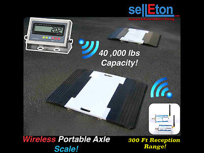 Axle Scales Car Trucks Weigh Pads 40,000 lbs PS-40KWP2 Wireless Overload Sign