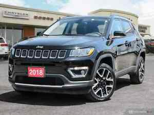 2018 Jeep Compass LIMITED 4X4 | NAV SUNROOF UCONNECT