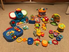 V- tech , Fisher price baby toys