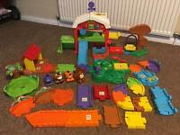 VTech Toot Toot Farm Set + Extra Track and Animals