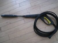 Karcher Pressure Washer Hose & Hand Gun + Sprayer Attachment - Free Uplift