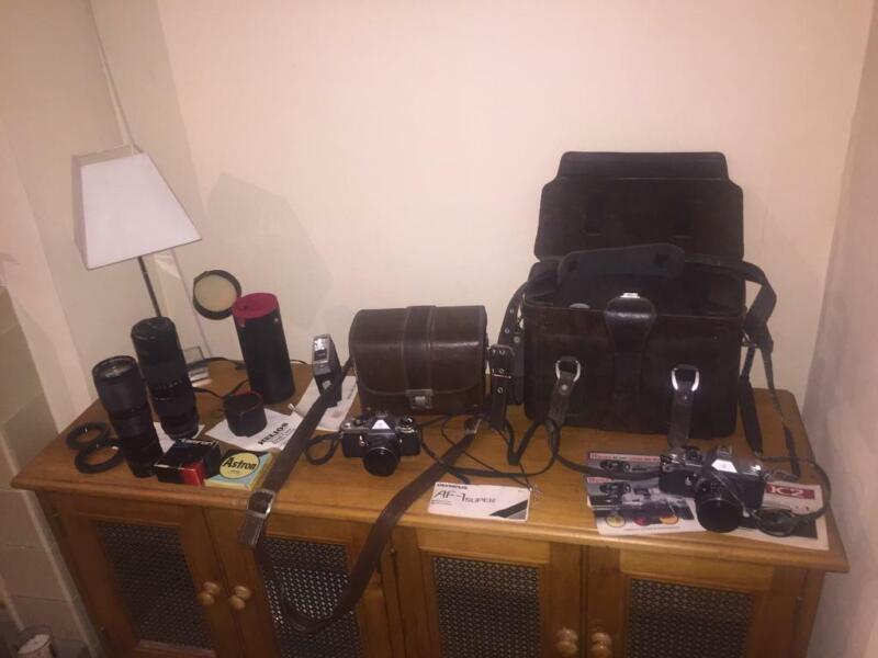 JOB LOT 2 X VINTAGE PENTAX K2/ME/ LENSES & ACCESSORIES  for sale  Worthing, West Sussex