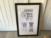 Large framed modern picture. New.