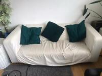 Double white/cream sofa