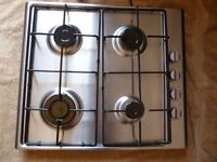 Stainless steel gas hob. Currys Essentials. Model number CGHOBX16