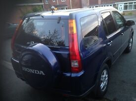Honda CRV 2.0 Sports Auto full leather brilliant on fuel Met Blue MOT August