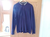 Long Sleeve Navy Shirt (Size L)
