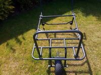 Carp fishing barrow used once only