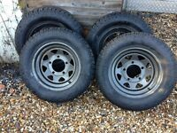 Landrover / Transit Van Wheels with Unused General Grabber AT tyres
