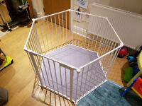 Baby Playpen with Padded grey play mat