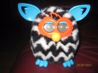 Black/Blue Furby battery operated toy