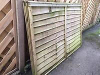 Two fence panels. 6ft wide x 4 ft high