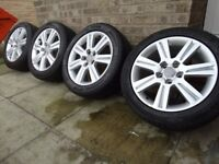 For sale set 17'' genuine alloys audi 5x112 fit to a3 a4 a6 ,TT or any vw van caddy