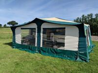Brilliant 6 berth Trigano folding camper trailer tent with large awning and loads of accessories