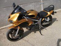 2001 Suzuki SV650 motorbike