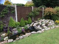 Rockery stones including waterfall for sale. Buyer collects
