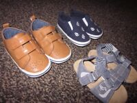 Baby Boys pre-walkers - shoes/sandals NEXT 3 x pairs - Excellent/New - Size 3