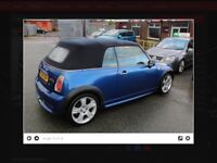 Mini Cooper s convertible. A lot of new parts on this car.