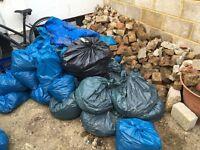 Free bricks - rubble