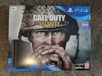 Unopened PS4 console with COD WWII [ONO]