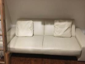 White leather sofa bed - great condition