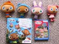Waybuloo toys, sound book and dvd £1 - £1.50 each.
