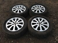 """For sale - Vauxhall Astra / vectra / Zafira 16"""" Sri alloy wheels - good tyres"""