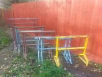 5 pairs of builders trestles