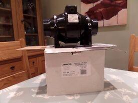 Extractor Fan (Manrose) 100mm Mixed Flow Inline Duct Fan & Bracket