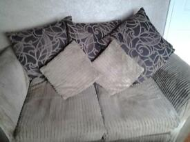 3 seater and 2 seater brown sofas for sale.