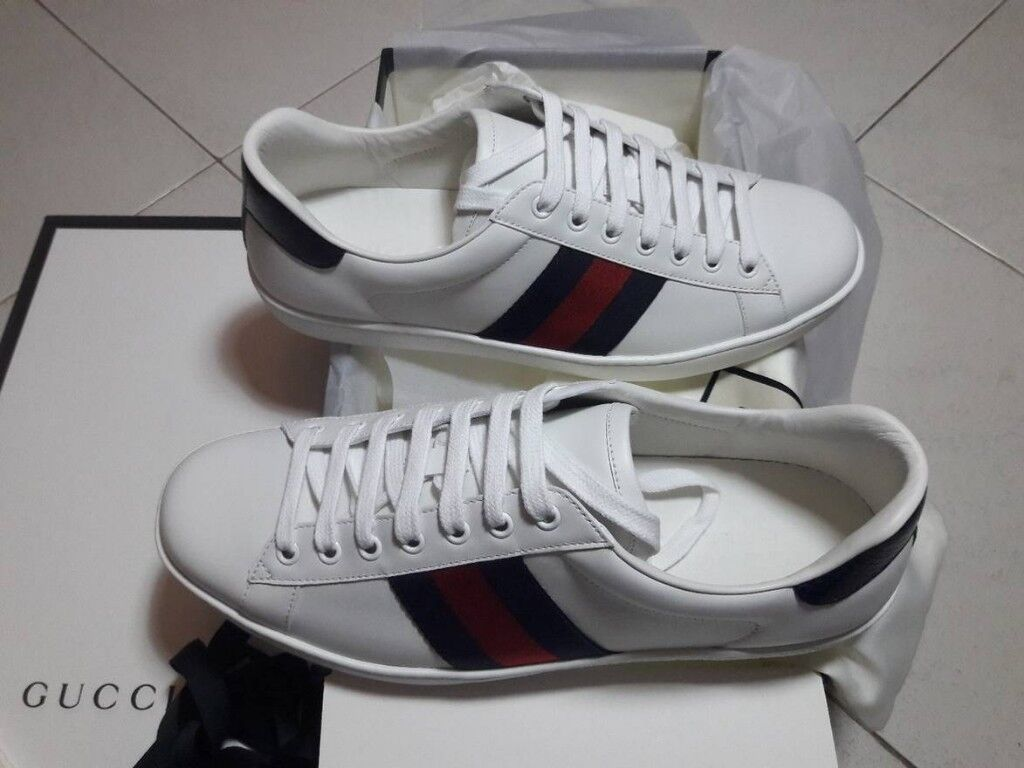 f280f3163de Gucci Ace Bee embroidered trainers (10)