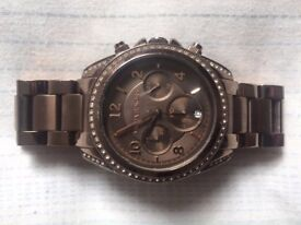 MINT CONDITION Stunning Unisex Michael Kors Chocolate Runway Watch (RRP +£230)