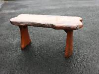 Handmade Solid Elm Bench & Table Garden Furniture