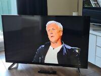 Hitachi 49 inch led HD smart tv wifi freeview hdmi remote