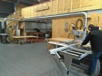 Workshop bench space - with machinery woodwork furniture & cabinet making carpenter