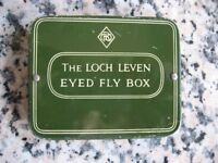 """VINTAGE Fishing Flies - """"The Loch Leven Eyed Fly Box"""" c1950's - Original Superb!"""