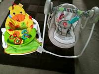 Ingenuity Baby Swing & Fisher Price Sit Me Up