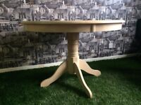 *HOUSE CLEARANCE* wooden light circle table for 5£ no time wasters please no delivery collection