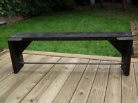 Industrial scaffolding board bench rustic pipe modern