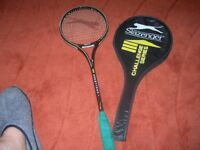 Slazenger Challenge squash racquet in nice condition with case