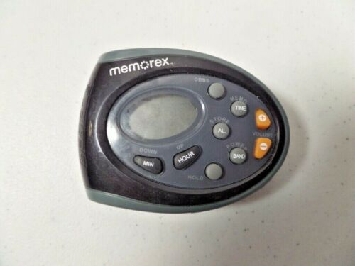 Memorex MR4402BK Sport Radio with belt clip, Digital AM/FM Radio Clock Function
