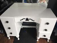 French White dressing table/desk. Shabby chic