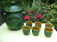 Punch Bowl and 6 cups, perfect condition