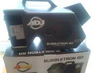 AMERICAN DJ BUBBLETRON GO WIRELESS REMOTE CONTROLLED PRO BUBBLE MACHINE, EX DEMO MINT