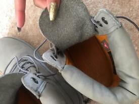 Grey Timberlands Size 6